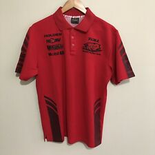 Holden Racing Team HRT HSV V8 Supercars Polo Shirt Red Black Mens Medium