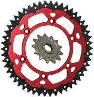 RFX ARMALITE DUAL RING SPROCKET KIT RED for BETA 250RR 300RR 49T REAR 13T FRONT