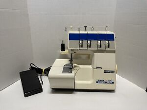 WHITE 734 Serger SuperLock 4 Spool Sewing Machine w/ Foot Pedal Tested Working