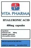 HIGH STRENGTH HYALURONIC ACID 400mg 30 caps SKIN REJUVINATOR COLLAGEN