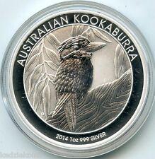 Australia 2014 Kookaburra .999 Silver Coin $1 Dollar - 1 oz bullion