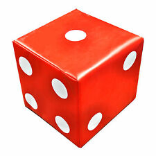Implay Soft Play PVC Foam Children's Red Lucky Dice Shape Activity Toys