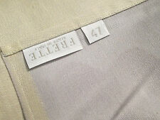 "FRETTE Armatura Raso Collection Tan Square Tablecloth 47"" x 47"" - Made in Italy!"