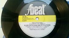 "Elvis Costello You Little Fool +2 7"" 45 EP rare Australian issue on F-Beat"