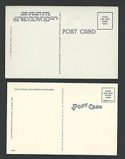 A19 2 pcs Texas  Long Horn (Steer) 12 views of state Unused 1940s