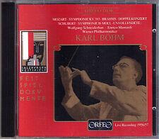 Karl BÖHM: BRAHMS Double Concerto MOZART Haffner SCHUBERT Sym 8 SCHNEIDERHAN CD