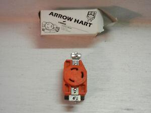 ARROW HART IG6340 Orange 30A 250V 2P 3W Grounding Single Locking Receptacle