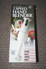NIB EASTERN ELECTRIC 2 SPEED HAND BLENDER, EHB 1800, BLENDS MIXES PUREES WHIPS