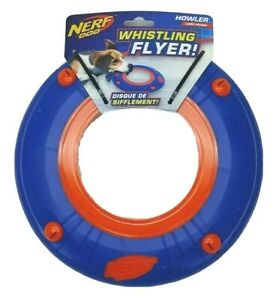 NERF Dog Atomic Howler Whistling Flyer Toy Disc Large