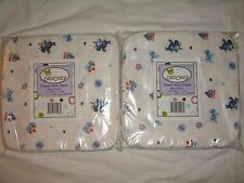 30 New OsoCozy ReUsable Cloth Flannel Baby Diaper Wipes 2 15-packs Boy Blue