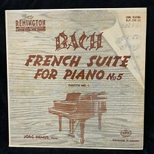 BACH French Suite #5 & Partita #1 - JORG DEMUS piano - REMINGTON RLP-199-25 - LP