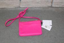 Celine Trio 165113ETA.25FU Fuchsia Pink Leather Shoulder Bag Authentic New