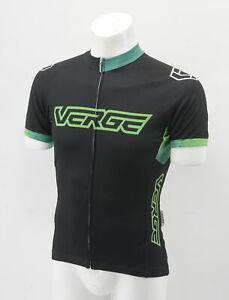 Verge Women's Elite-Fitted Short Sleeve Jersey Medium Black/Green Brand New
