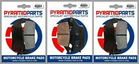 Front & Rear Brake Pads (3 Pairs) for Honda CBR600 F3 95-98