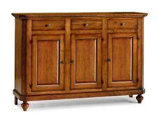 Base mobile basso credenza in arte povera legno massello, con ante e cassetto