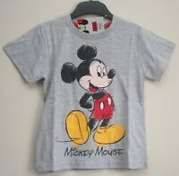 Disney MICKEY MOUSE Short-Sleeved LIGHT GREY T-Shirt/Top - NWT - 2-5 years