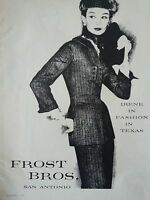 1956 Womens IRENE Suit Fashion in Texas Frost Brothers Clothing Ad