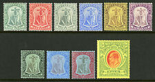 Montserrat   1908-13   Scott # 31A-40   Mint Lightly Hinged Part Set