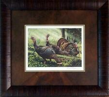 David Chapman 2002 MN Turkey Stamp Print-S//N Framed  19 x 17
