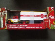 1937 Metal Coca Cola  Cab and Trailer Bank Truck DIE-CAST 1/43 NIB