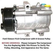 Ford E 250 4.2L 5.4L  97-02  OEM Visteon HS10  AC Compressor 8 Groove Pulley