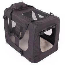 Faltbare Hundebox Hundetransportbox Katzenbox Schwarz 98x67x72cm FHB-006 #W013