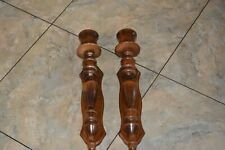 PAIR of Vintage Wood Wall Candle Farmhouse Style Sconces 15''