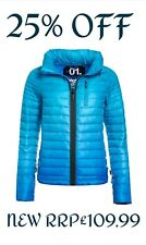 *25% OFF* NEW RRP£109.99 XL SIZE WOMENS SUPERDRY POWER FADE WINTER JACKET BLUE