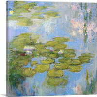 ARTCANVAS Nympeas 1916 Canvas Art Print by Claude Monet