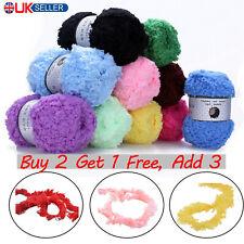 Fluffy Coral Velvet Natural Yarn Soft Skeins Plush Chunky Knit Wool DIY XmasGift
