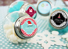 96 Winter Holiday Personalized Wedding Favor Candy Jars