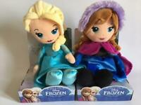 DISNEY FROZEN ANNA OR ELSA SOFT DOLL / TOY - BOXED - NEW - 10 INCH (26CM)