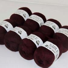 8Ballsx50g Pure Sable Cashmere Hand Knitwear Wool Shawls Soft Crochet Yarn 23