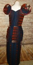 Blue Burgundy Traditional Ethnic Clothing Women Suit African 2 PC Suit Skirt Set