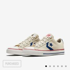 """CONVERSE STAR PLAYER """"INTANGIBLES"""" PARCHMENT VALOR BLUE SIZE 12 CONFIRMED ORDER"""