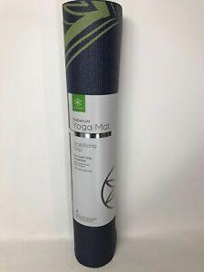 Gaiam Premium Yoga Mat 5mm Extra Thick Premium Yoga Fitness Mat Multicolor New