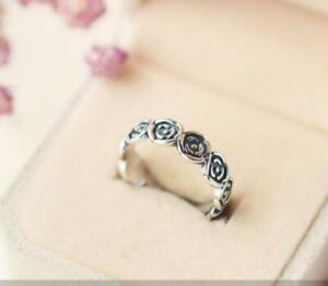 Silver Flower Roses White Gold Adjustable Band Toe Ring
