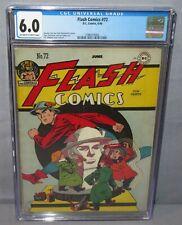 FLASH COMICS #72 (Golden Age) CGC 6.0 FN DC Comics 1946 Hawkman