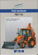 "Fiat-Hitachi ""FB110"" Tractor Backhoe Loader Brochure Leaflet"