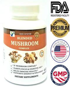 Mushroom Supplement Maitake Reishi Shiitake Turkey Tail Cordyceps Pills Capsule