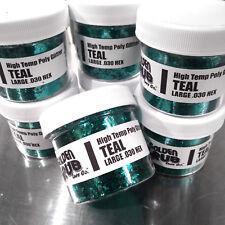NEW 2 OZ. Jar TEAL High Temp Glitter .030 Hex Fishing Lure Making plastisol