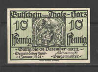 German NOTGELD STEINACH #L1229 Complete Set of 1 UNC  CATALOG VALUE = $10+