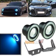 "2pcs Universal Fit 3.5"" Projector LED Fog Light Ice Blue COB Angel Eye Halo Ring"