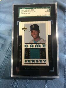 Ken Griffey Jr. 1997 Upper Deck GJ1 Game Jersey. SGC 92 8.5 + Near Mint Rare