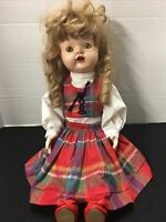 """Vintage 1950's 20"""" Ideal ? Hard Body Saucy Walker  Doll  Open Mouth Blonde Curl"""