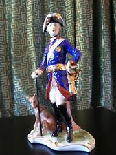 Friedrich der Große, Neundorfer Porzellanfigur mit Bodenmarke, wie neu, 28 cm