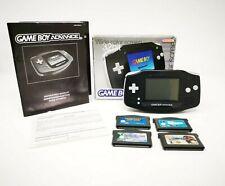 Gameboy Advance Black Boxed Console Games Bundle - Mint/NM VGC - Mario Kart GBA