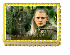 The Lord of the Rings Hobbit Legolas Party Edible Image Cake Topper 1/4 sheet