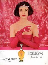 ▬► Publicité Perfume Jean d'ALBRET Ecusson Rizzo Original French Print ad 1957