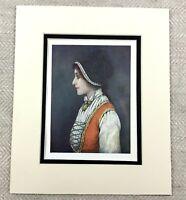 1905 Antico Stampa Norvegese Giovane Woman Ritratto Pittura Bergen Norway